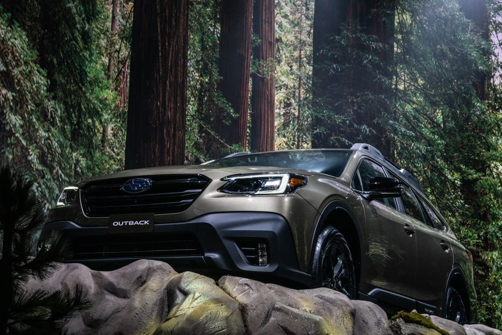 A Subaru Outback SUV at the 2019 New York International Auto Show