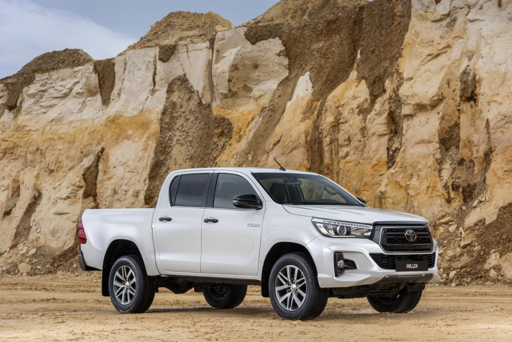 2019 Toyota Hilux Pickup parked in the desert