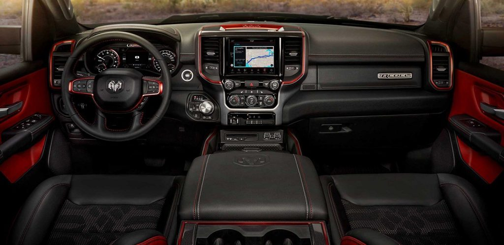 2019 Ram 1500 Rebel interior comes with plenty of badging and accessories