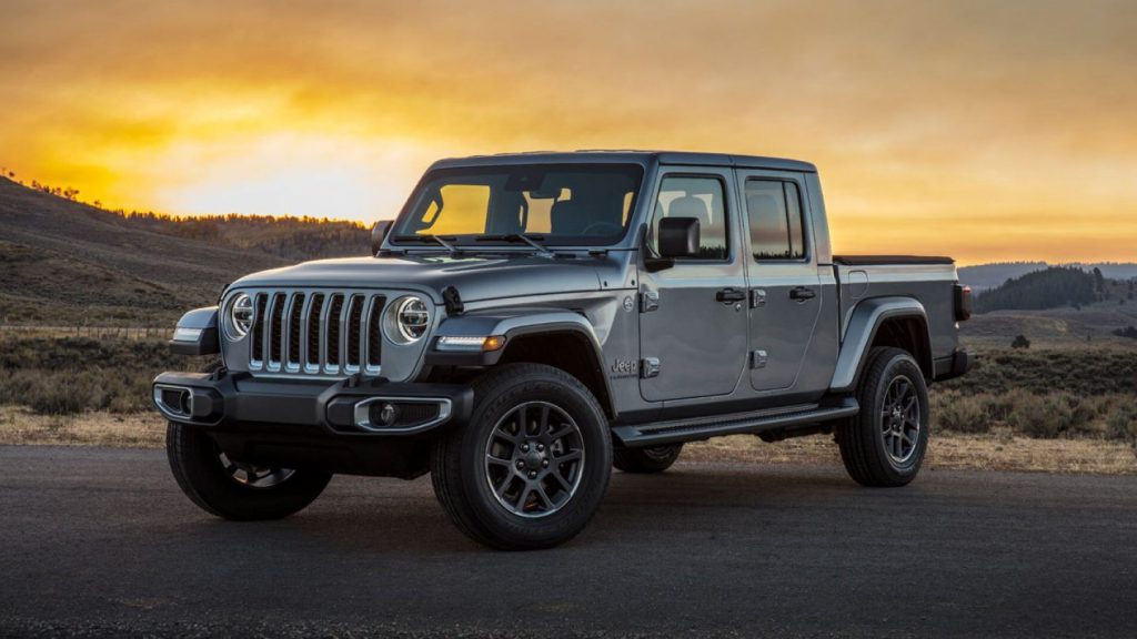 2020 Jeep Gladiator parked at sunset