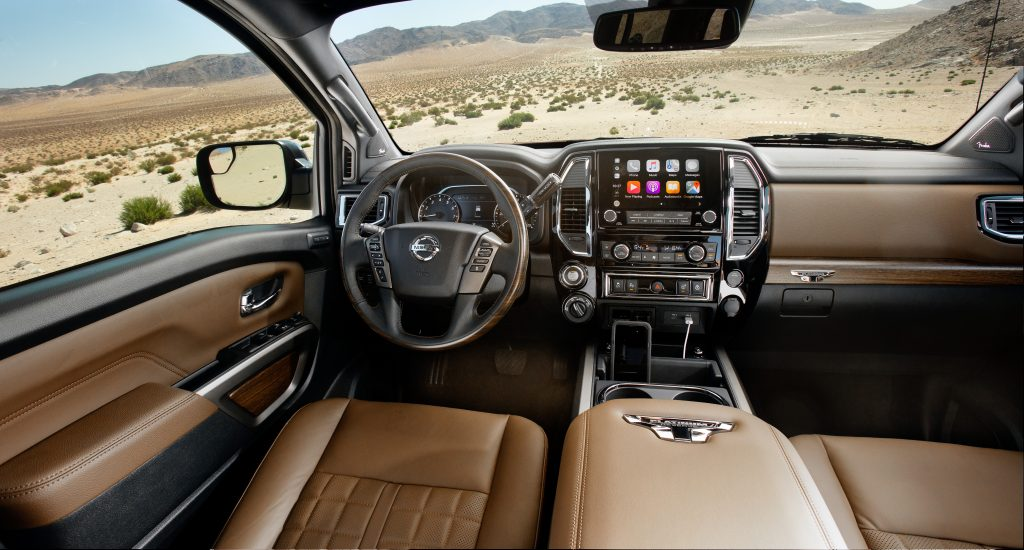 The interior of the Nissan Titan