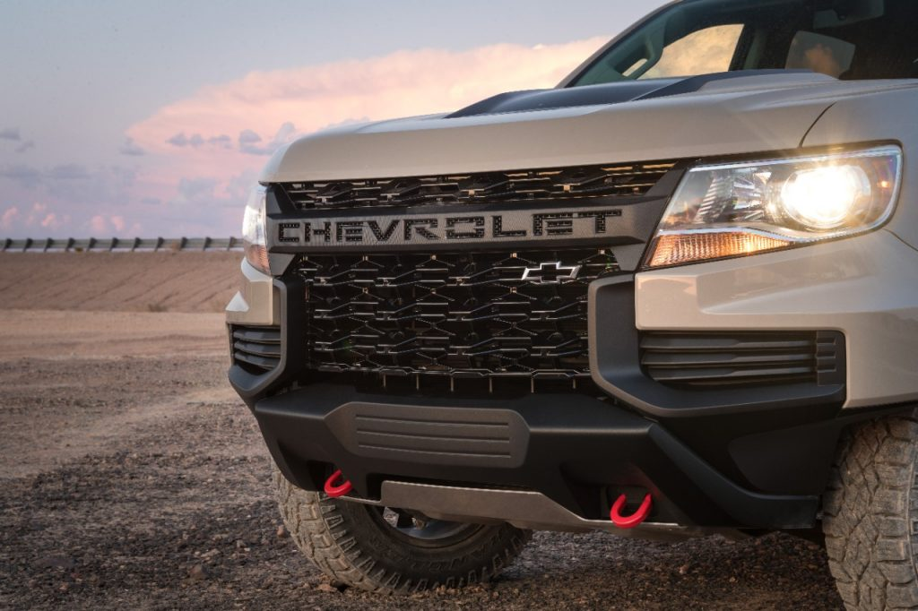 2021 Chevrolet Colorado ZR2 grille, up close