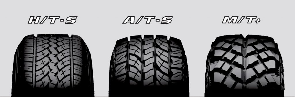 H/T, A/T, and M/T tire tread design