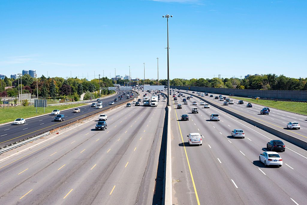 A view of King's Highway 401 in Canada