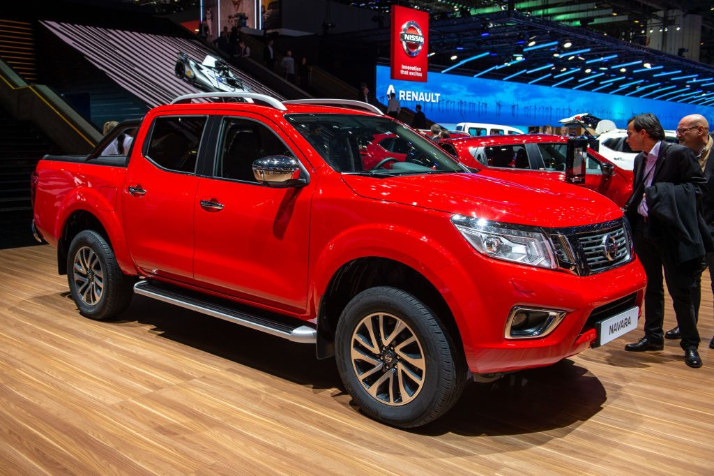Nissan Navara is displayed during the 89th Geneva International Motor Show