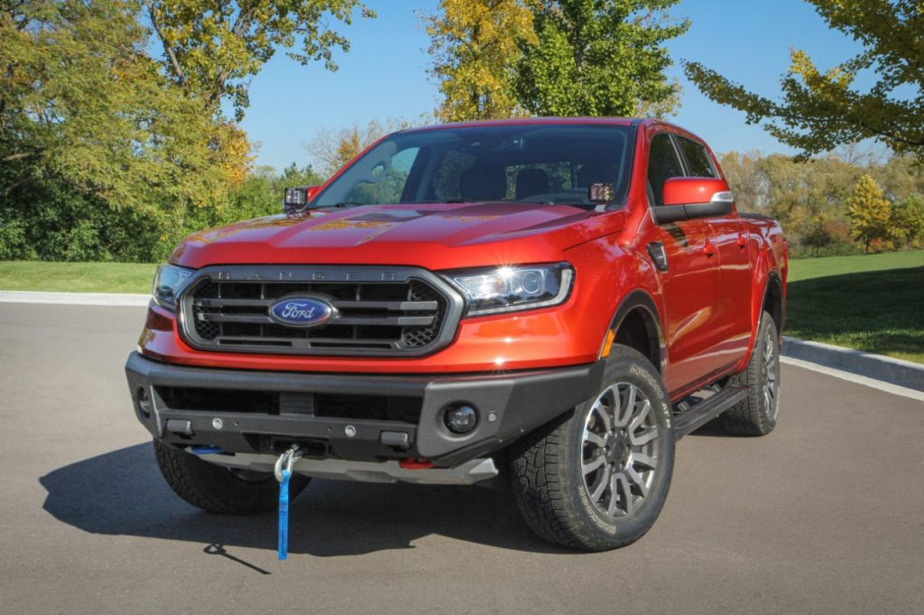 Ford Ranger with ARB Winch-Ready Bumper
