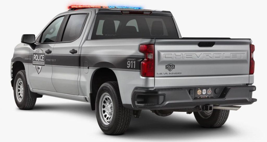 2019 Chevrolet Silverado SSV police pickup rear