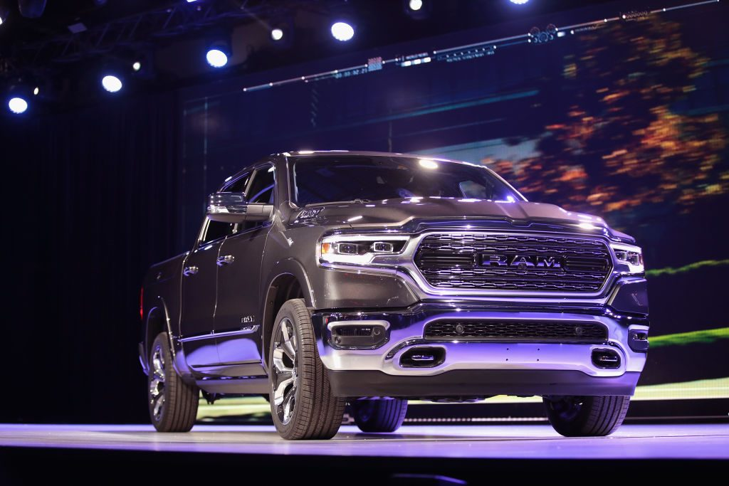 Gray 2019 Ram 1500 at the North American International Show