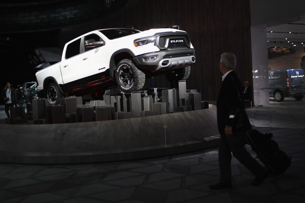 2019 Ram 1500 pickup truck at the 2018 North American International Auto Show