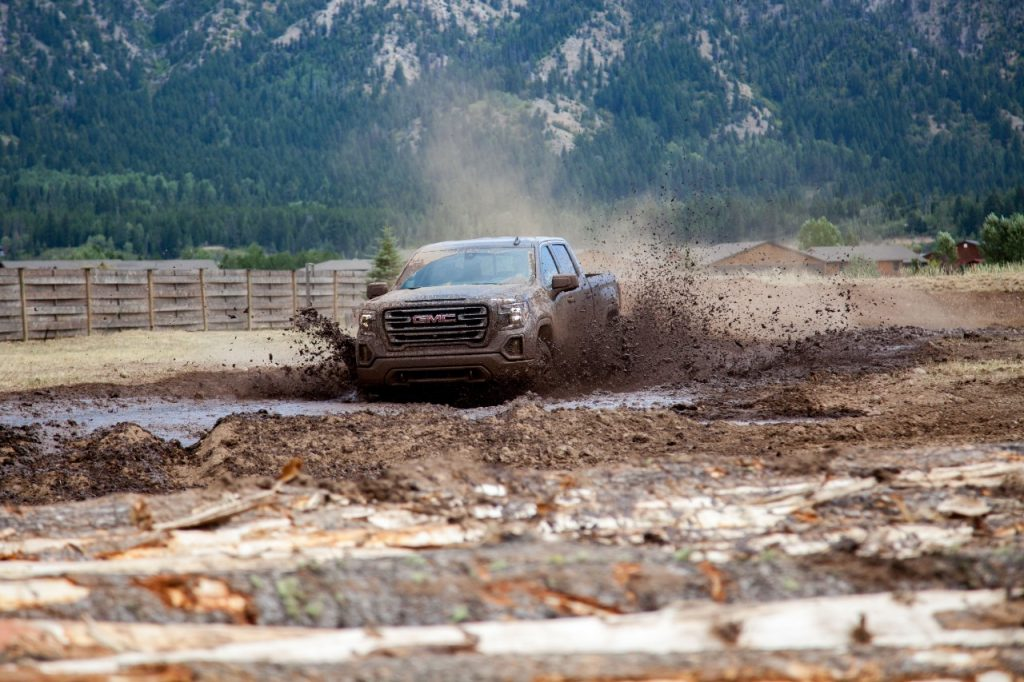 The 2020 GMC Sierra AT4 off-roading