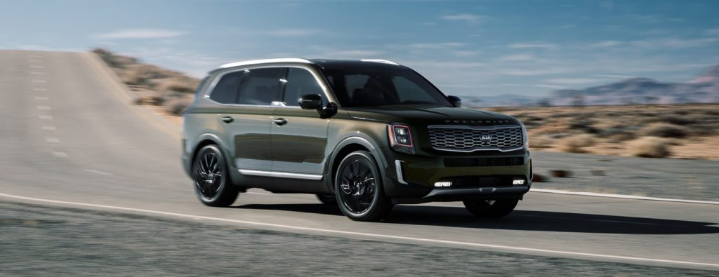 2020 Kia Telluride driving in the country