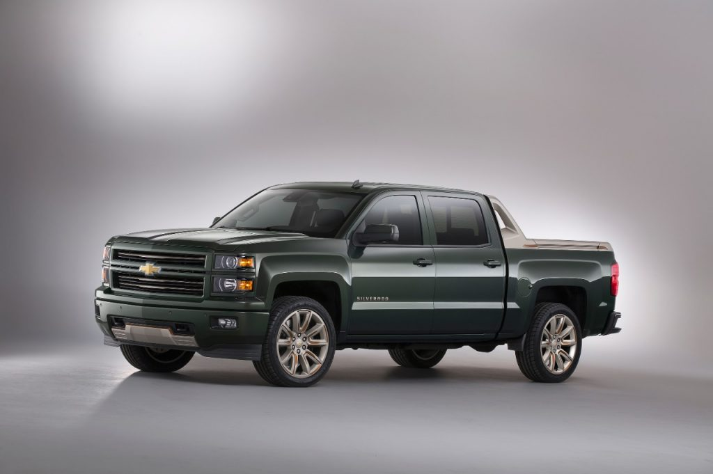 The special Chevrolet Silverado High Desert package is displayed