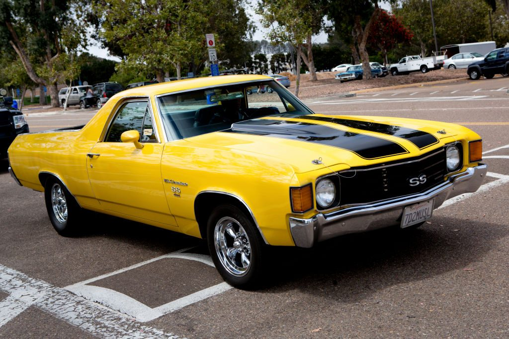 A Chevy El Camino parked in a lot.