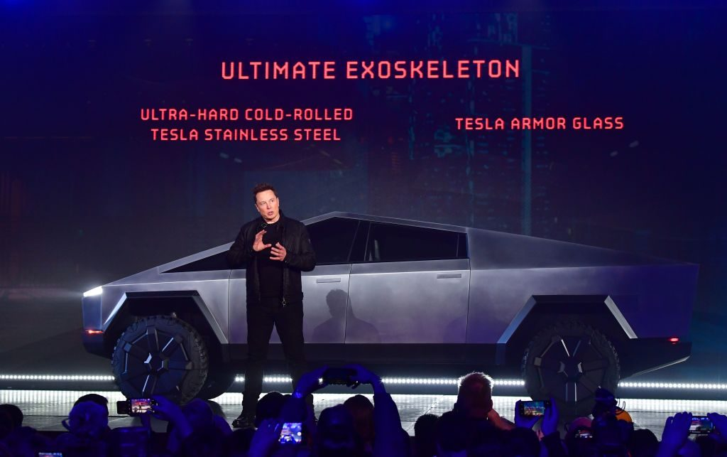 Tesla co-founder and CEO Elon Musk unveils Tesla's Cybertruck