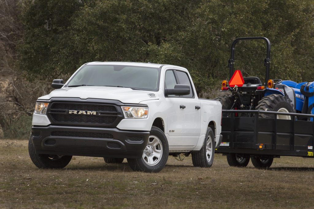 2020 Ram 1500 Tradesman hauling equipment