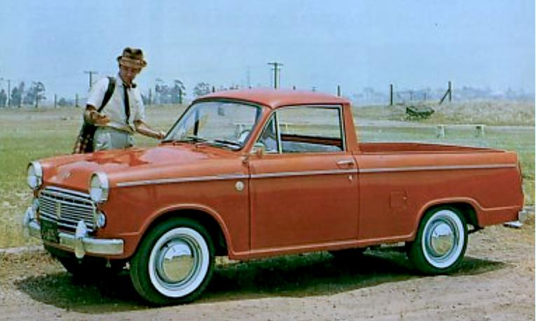Early Datsun pickup truck | Nissan
