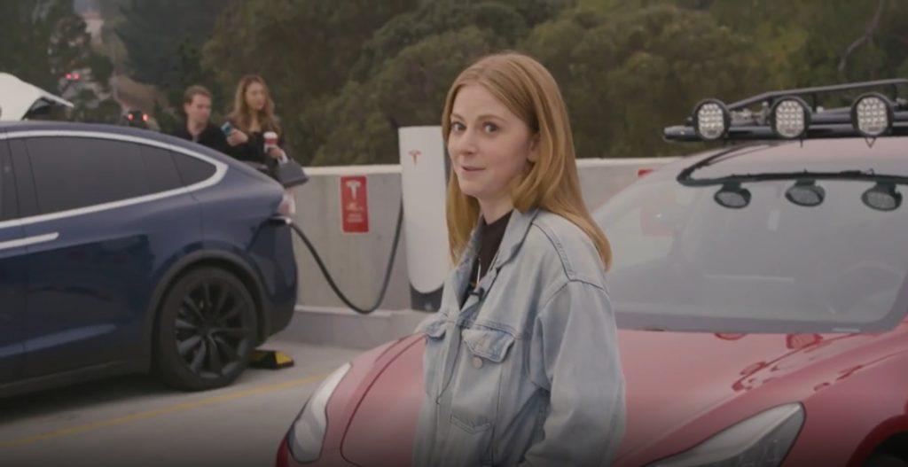 Simone Giertz with Tesla Truckla pickup