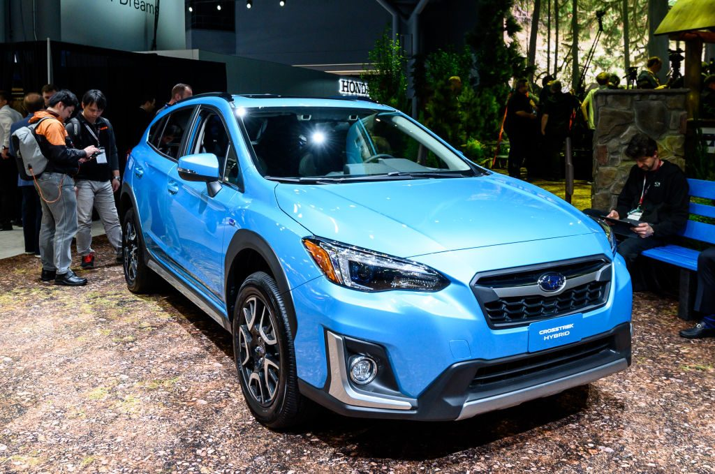 2019 Subaru Crosstrek Hybrid seen at the New York International Auto Show