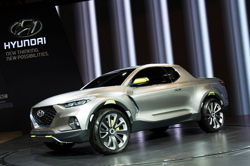 The new Hyundai Santa Cruz concept vehicle unveiled at the 2016 Canadian International Auto Show