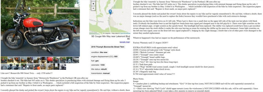More effective Craigslist ad layout