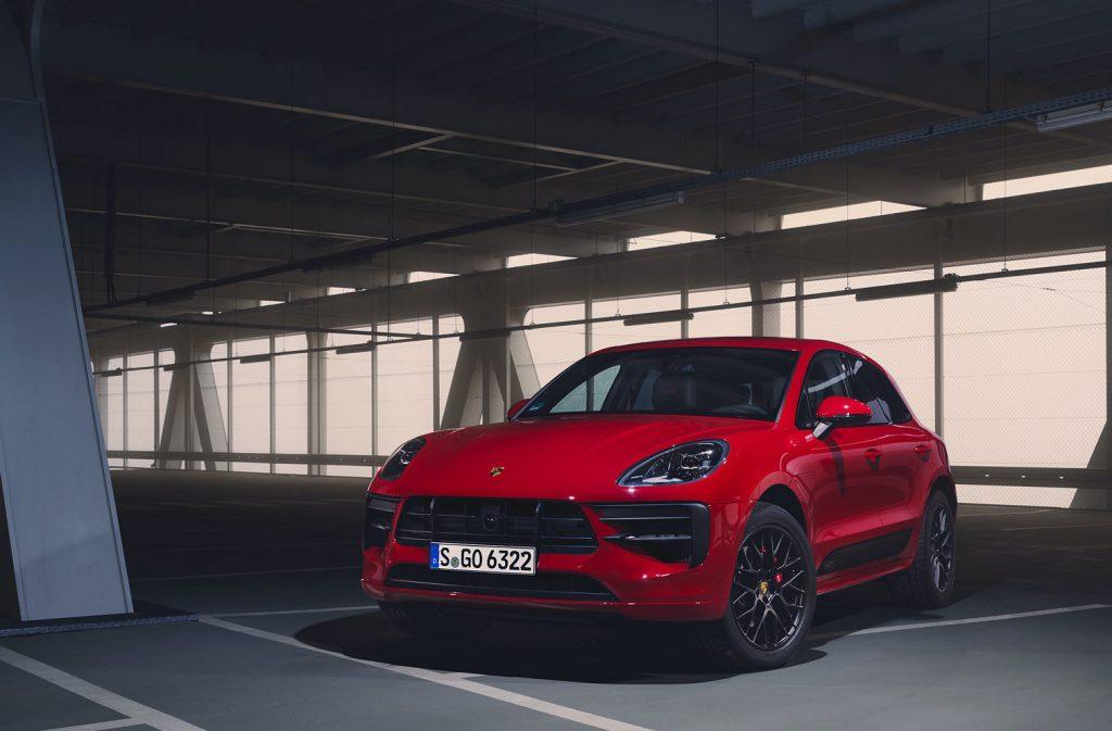 A red 2020 Porsche Macan GTS