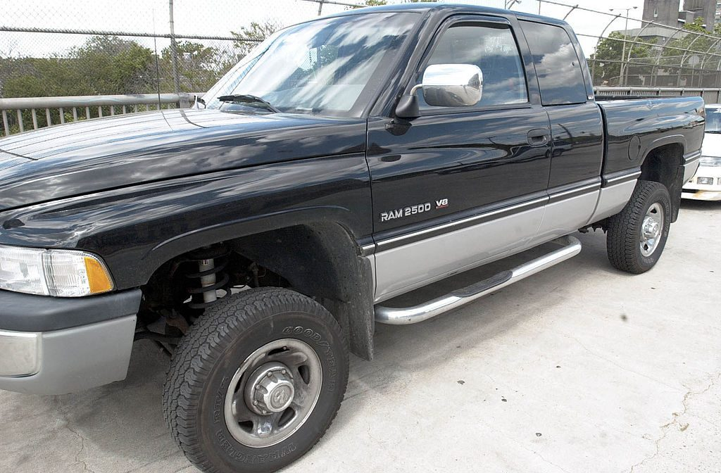 A Dodge Ram parked in a lot