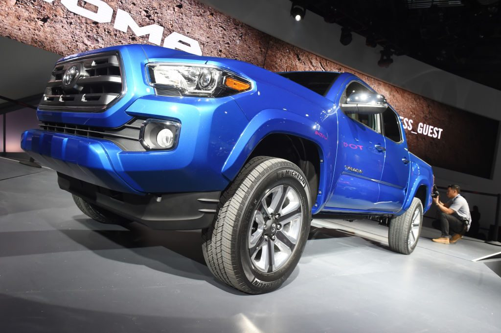The Toyota Tacoma on display at the North American International Auto Show 2015