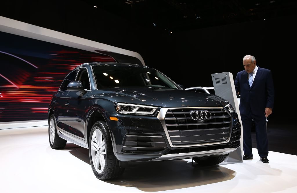 A 2017 Audi Q5 on display at the Chicago Auto Show