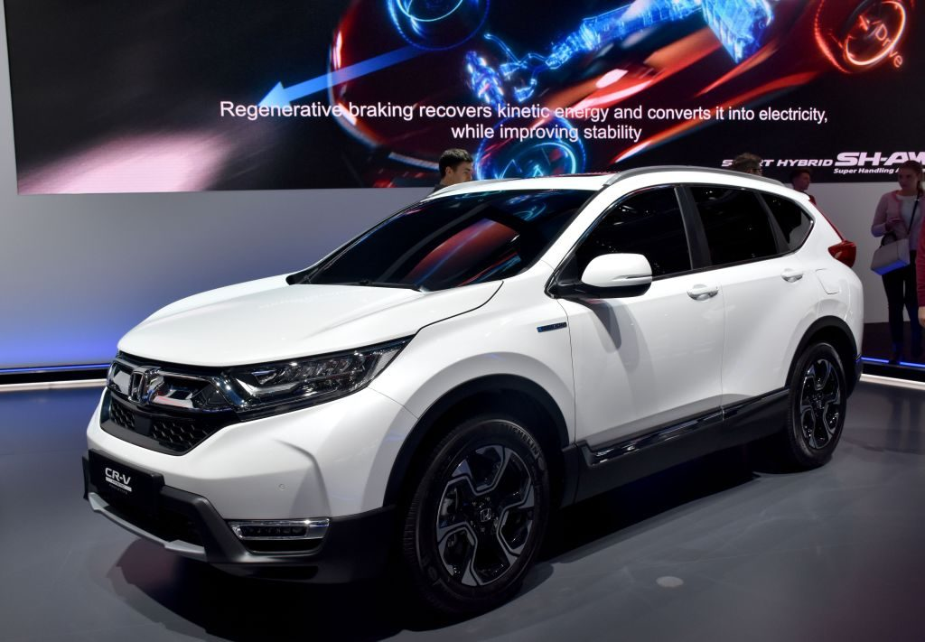The 2017 Honda CR-V on display at the Frankfurt Motor Show