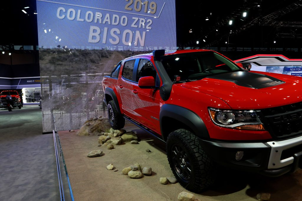 2019 Chevrolet Colorado ZR2 Bison is on display at the 111th Annual Chicago Auto Show