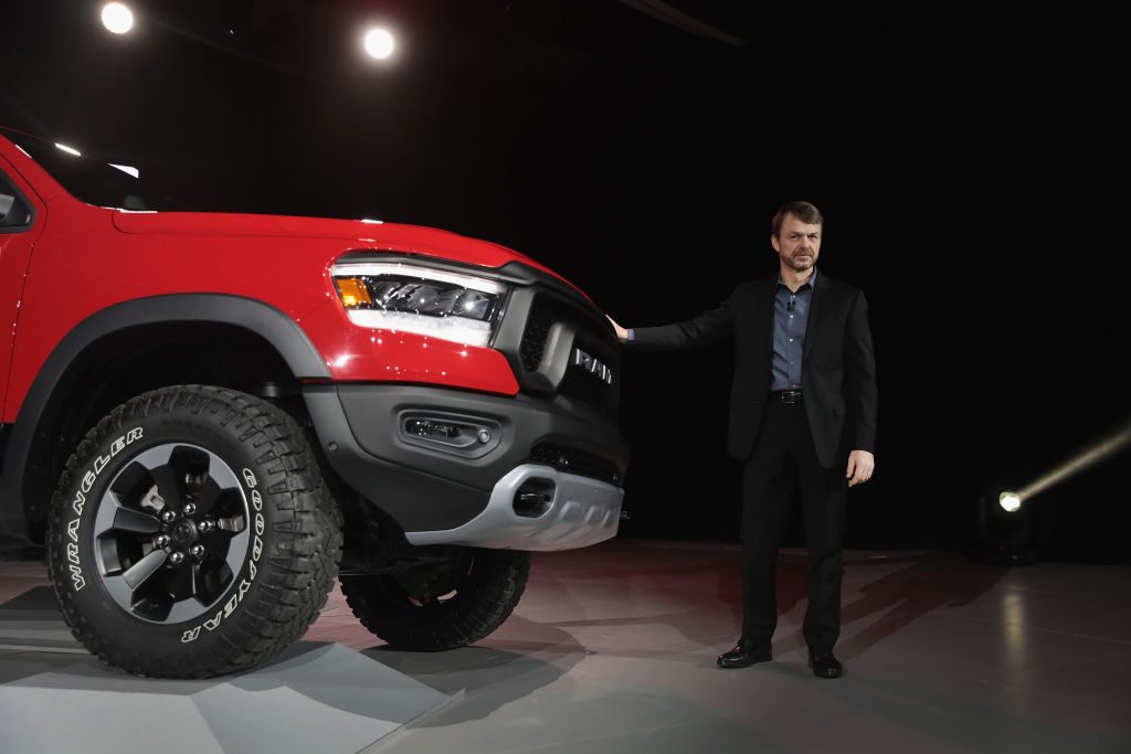 A 2019 Ram 1500 on display at an auto show.