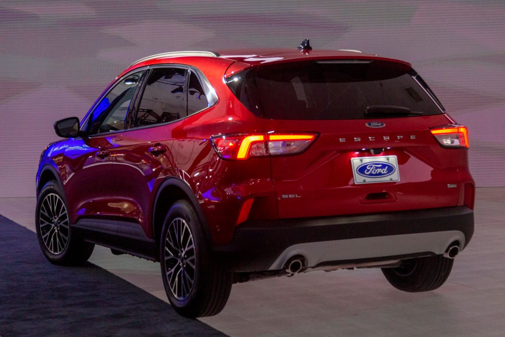 The 2020 Ford Escape plug-in hybrid on display at AutoMobility LA