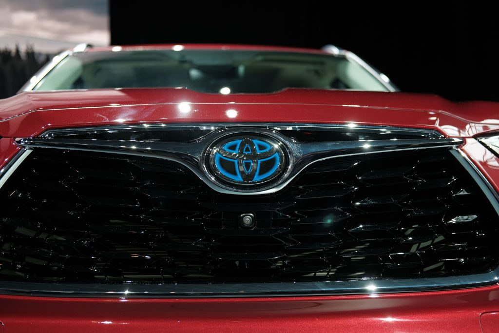 The 2020 Toyota Highlander on display