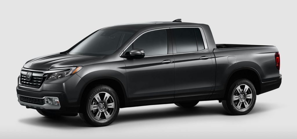 2020 Honda Ridgeline in a showroom