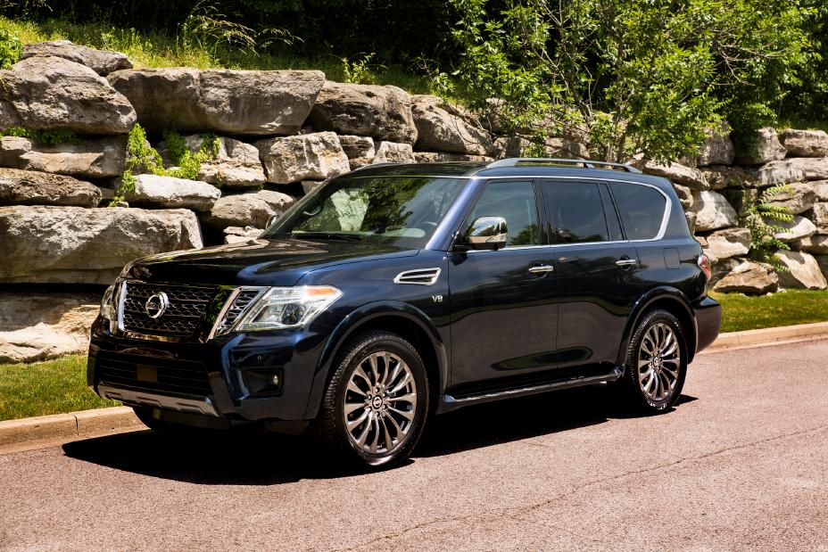 2020 Nissan Armada parked outside