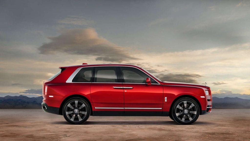 a red 2020 Rolls-Royce Cullinan