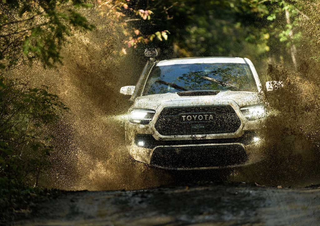 2020 Tacoma TRD Pro off-roads through mud
