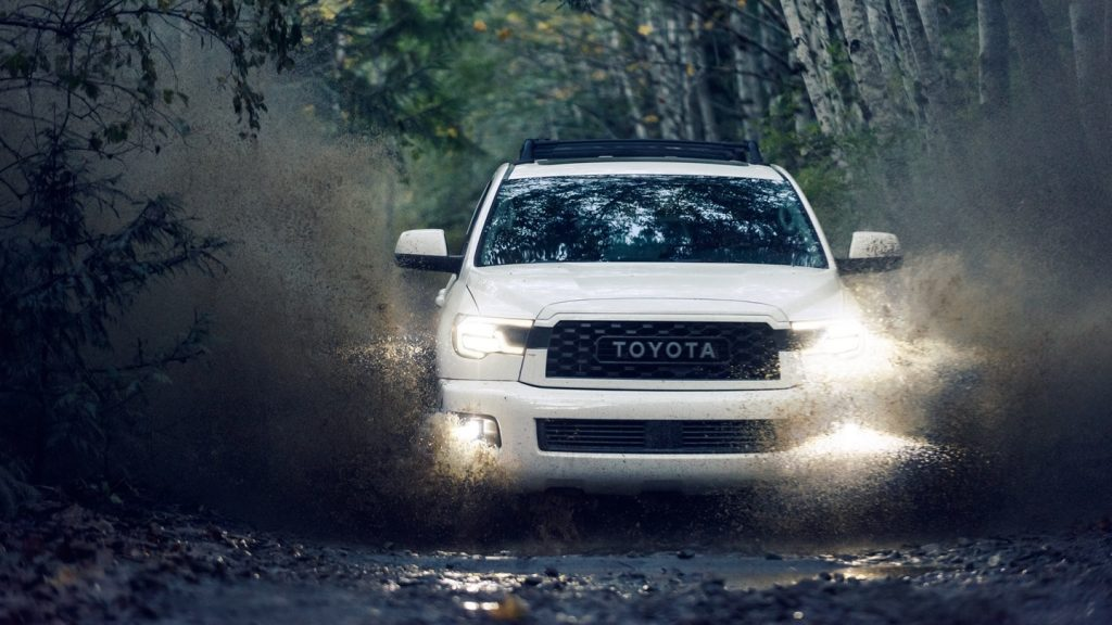 2020 Toyota Sequoia off-roading