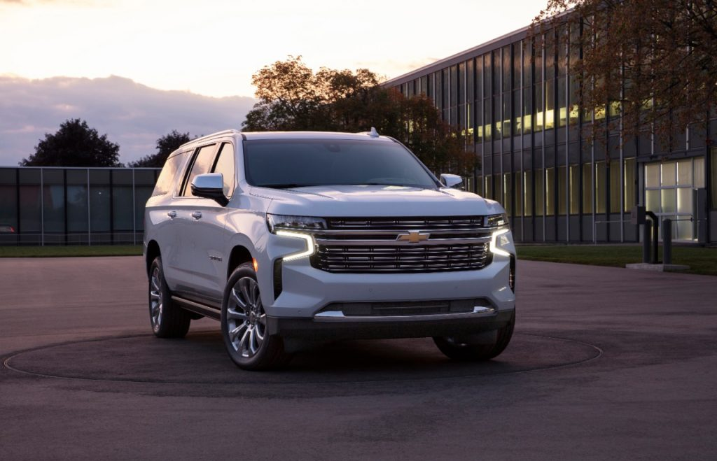 2021 Chevrolet Suburban parked near home