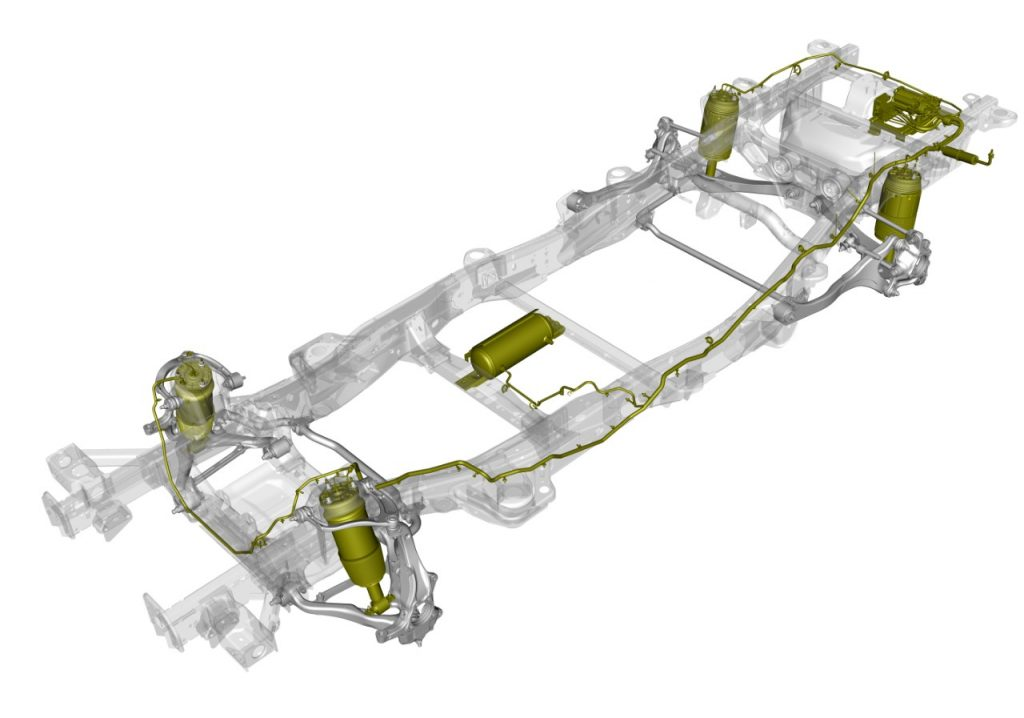 2021 Chevrolet Suburban chassis with Air Ride adaptive suspension