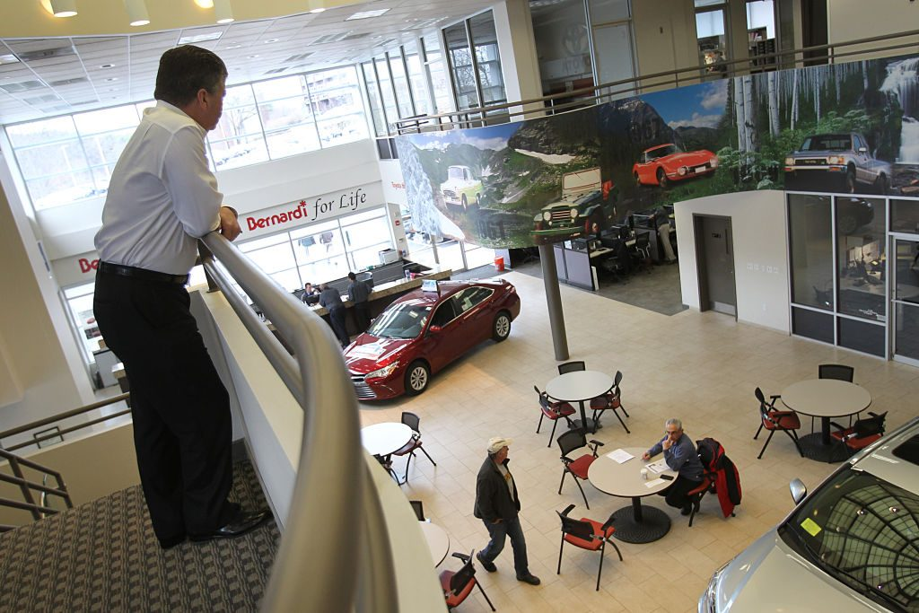 FRAMINGHAM, MA - MARCH 29: Keith Monnin, CEO of Bernardi Auto Group, looks over a dealership in Framingham, MA on Mar. 29, 2017. (Photo by Suzanne Kreiter/The Boston Globe via Getty Images)