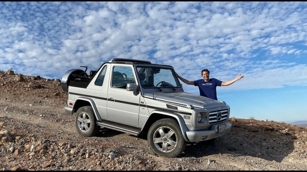 Doug Demuro off-roading his Mercedes G-Wagen Cabriolet (G500 Cabriolet)