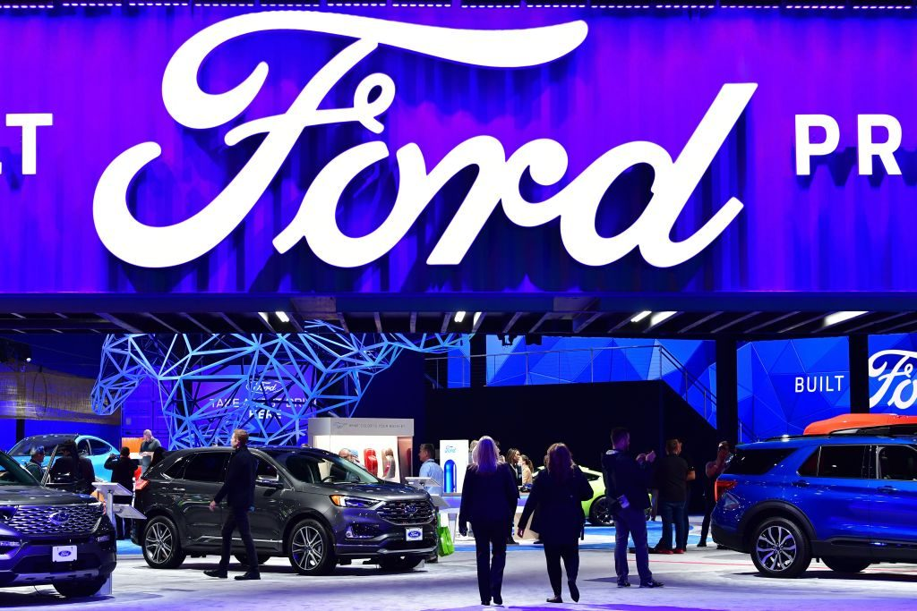 Ford display at the 2019 Los Angeles Auto Show