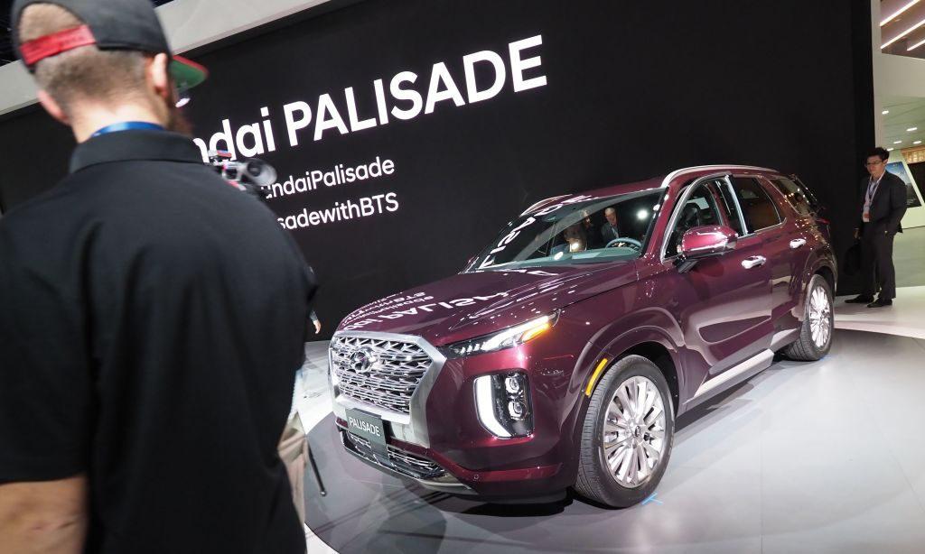 The 2020 Hyundai Palisade on display at AutoMobility LA