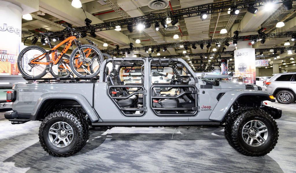 Jeep Gladiator Rubicon seen at the New York International Auto Show