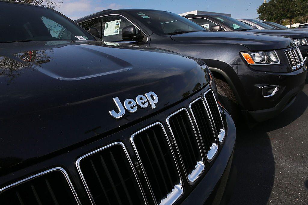 Jeep Grand Cherokee on display at a car dealership