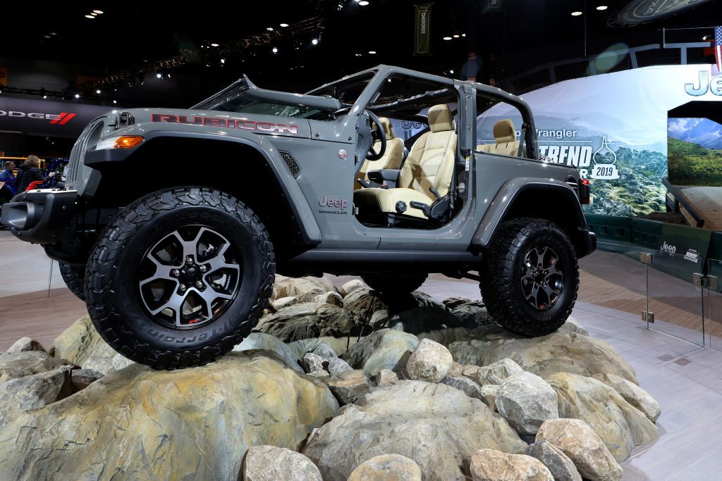 The 2019 Jeep Wrangler Rubicon at the Chicago Auto Show.