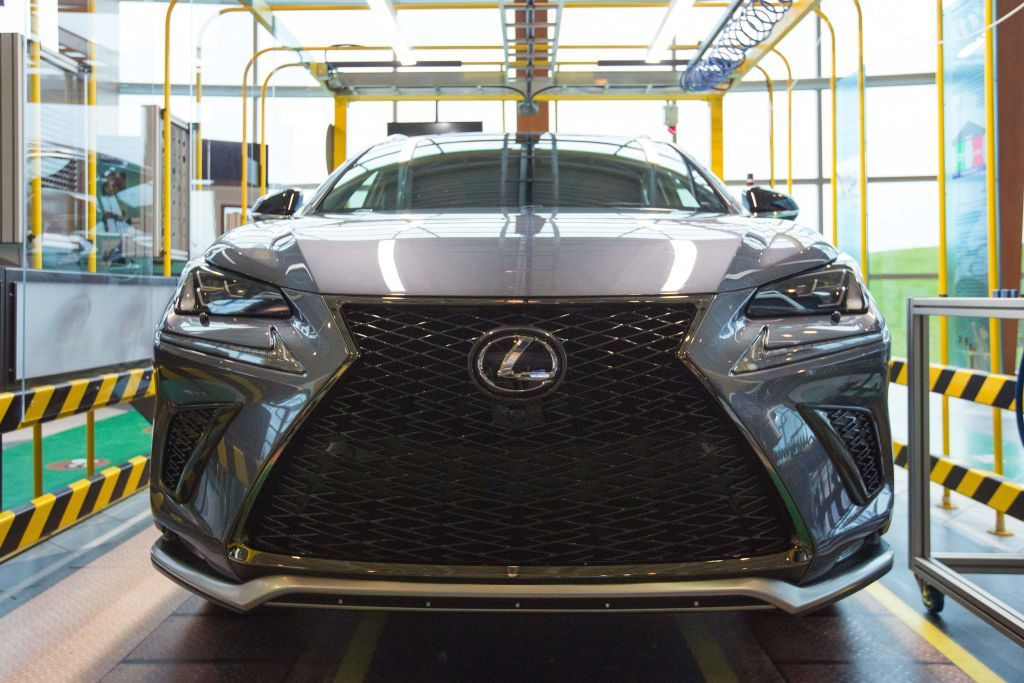 A Lexus NX luxury SUV viewed from the front