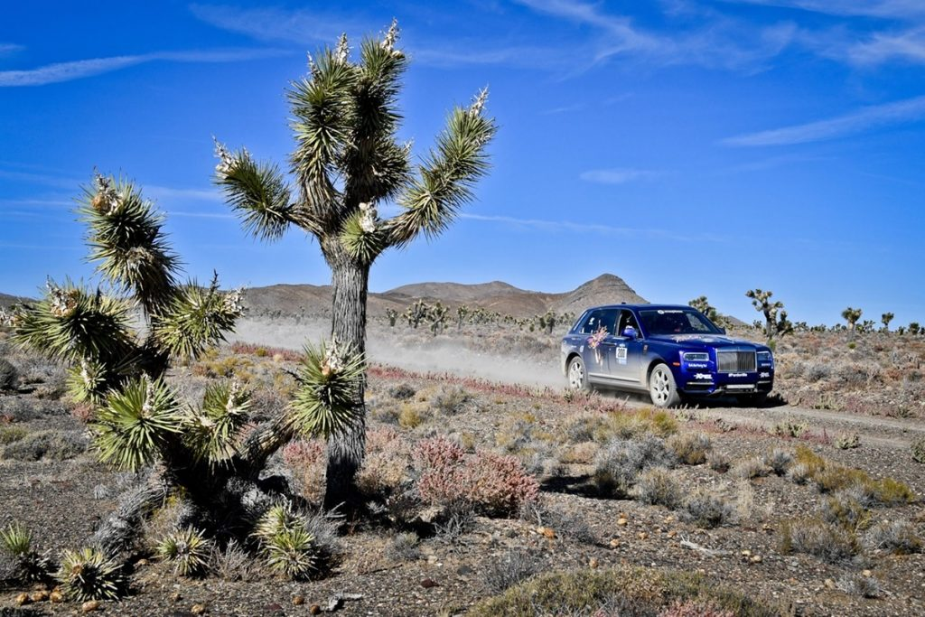 Rolls-Royce Cullinan racing in the 2019 Rebelle Rally