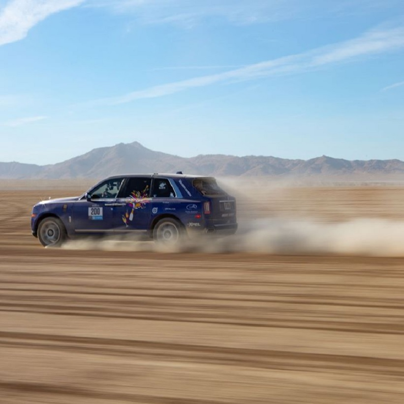 Rolls-Royce Cullinan racing in the Rebelle Rally